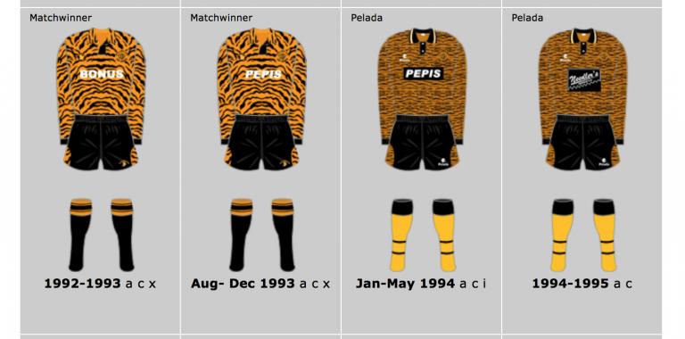 Hull City's Nineties kit