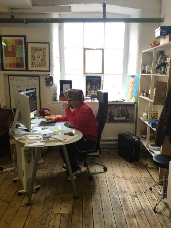 Stanley Chow in his studio