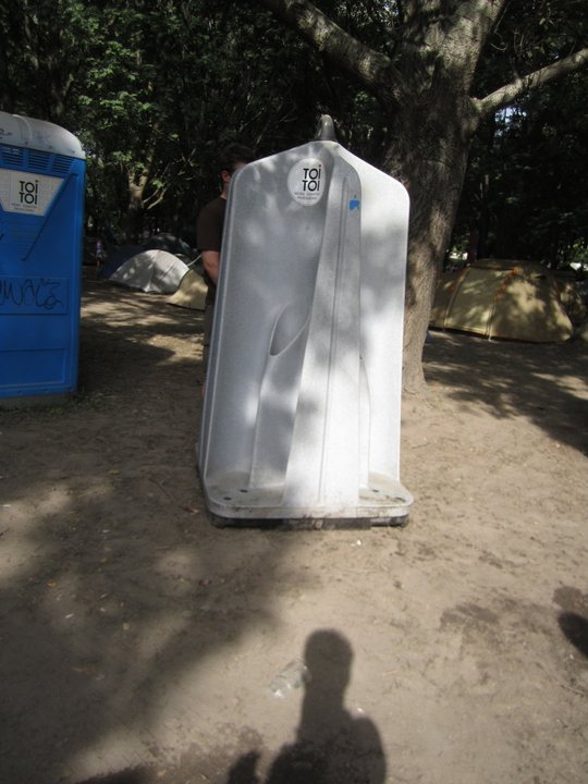 Sziget festival stand-up urinal