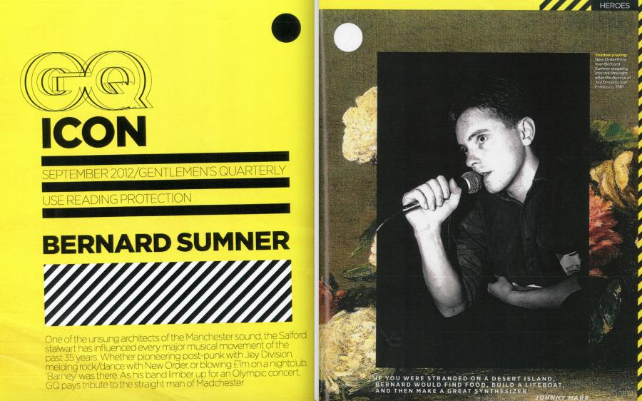 GQ Icon: Bernard Sumner