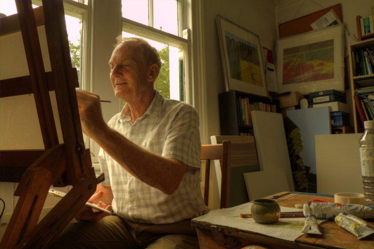 Peter Watson in his home studio