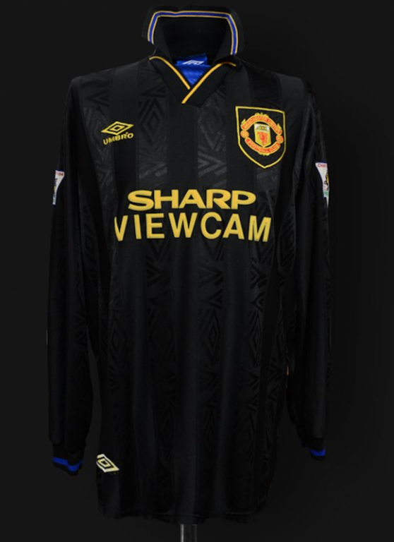 Manchester United black change-colour shirt from the Nineties