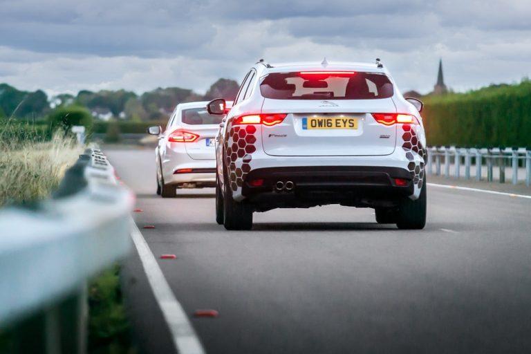 Jaguar F-Type self-driving vehicle